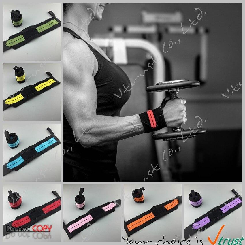 1 paire Réglable Wrist Wrap/Support de Poignet/Sport Poignet bande/Bandage De Bande de Soutien/Gym Sangle De Sécurité Crossfit wrap