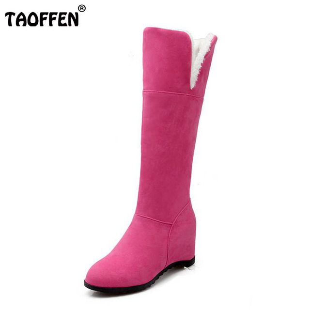 Size 34-48 Women Over Knee High Hee Boots Metal Buckle Warm Fur Shoes For Cold Winter Boots Long Boots Women Footwears brand new unisex sale online NsugfuNNly