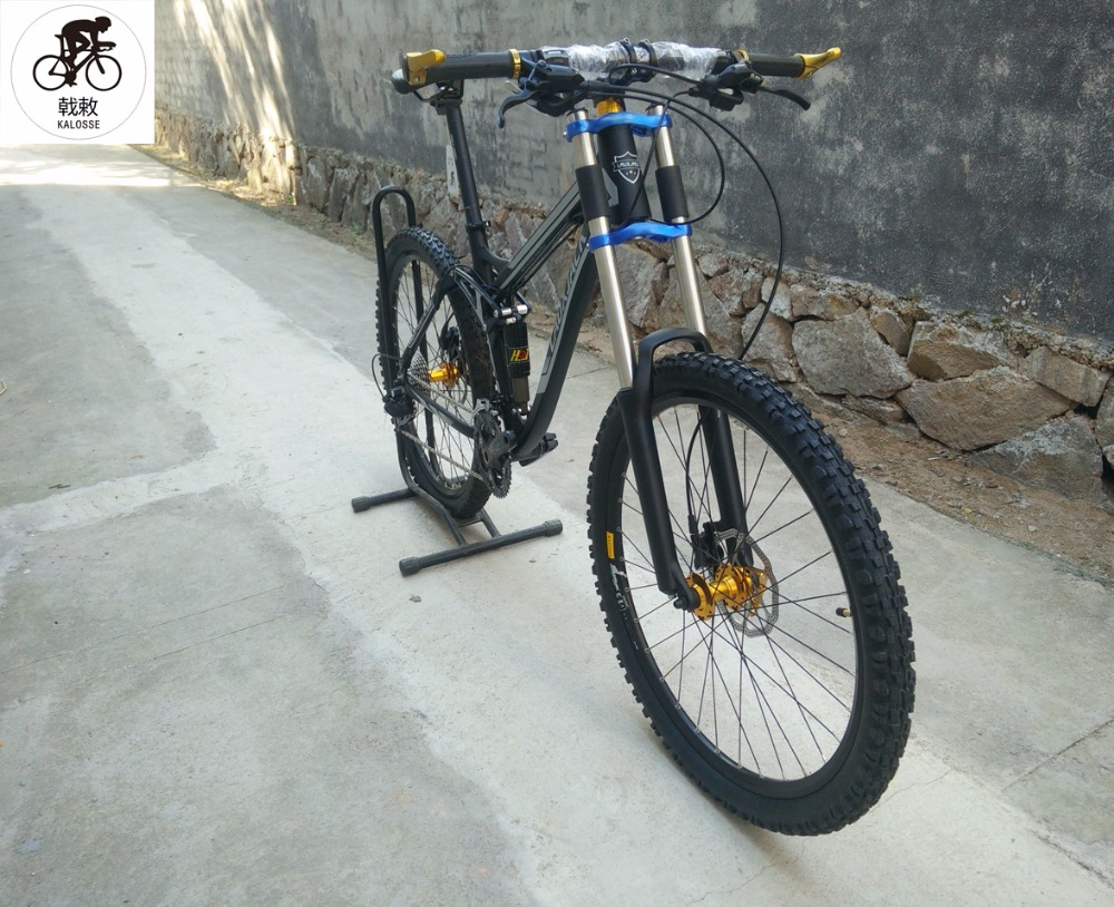 Kalosse Mountain-Bike Full-Suspension-Frame Bicycle-M4000 Aluminum-Alloy 27-Speed Hydraulic-Brakes