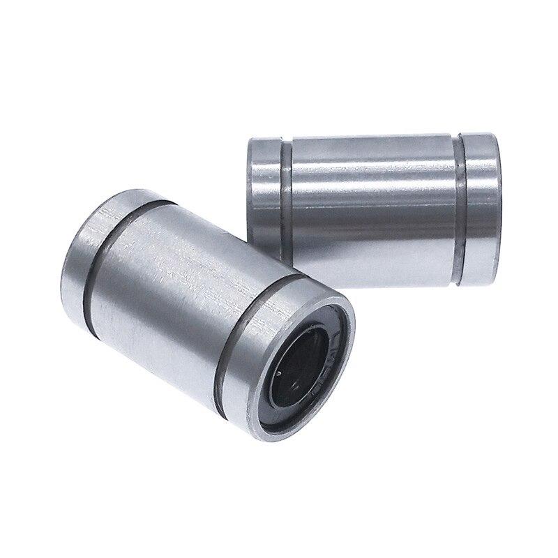 Линейная втулка LM8UU с ЧПУ, 2 шт., линейные подшипники из углеродистой стали, 8*15*24 мм для стержней, линейный вал, детали|Подшипники|   | АлиЭкспресс