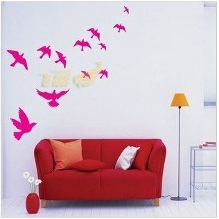 Fashion Pvc Wallpaper Wall Sticker Decoration Wall Decal Home Decor Stickers