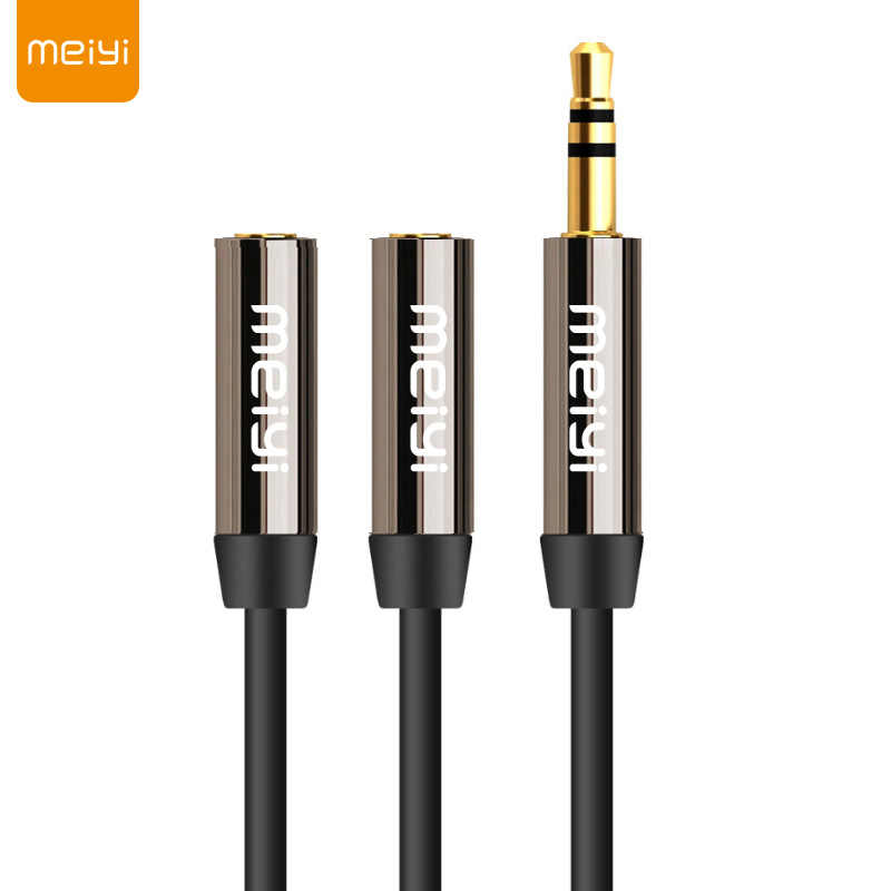 Meiyi 3.5 Mm Jack Aux Kabel Audio 1 Male To 2 Perempuan Headphone Splitter Y Kabel Ekstensi untuk Ponsel tablet Kabel Audio