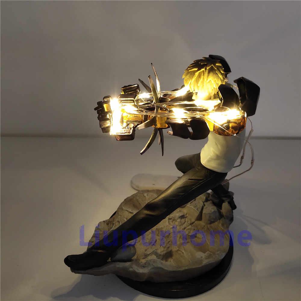 Один удар человек Lampara светодиодный лампы игрушки Genos пушки АНИМЕ DIY ночник кукла 3D Genos фигура модель с освещением подарок светодиодный настольная лампа