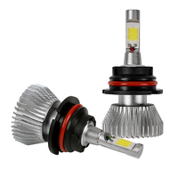 2pcs C6 Series 9004 Car LED Headlight Headlamp COB High Low Beam All In One Light