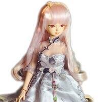 45 см БЖД кукла с гибкими суставами с сексуальное платье и розовые длинные мягкие волосы 18 дюймов милые BJD куклы подходит косметика сделай са