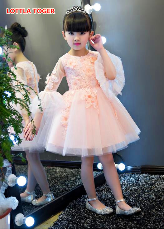Flower Petal Girls Dresses Summer 2017,children Tutu Princess Dresses For Girls,baby Girl Party Dress Kids Girls Clothes girl dress 2 7y baby girl clothes summer cotton flower tutu princess kids dresses for girls vestido infantil kid clothes