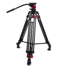 miliboo MTT603A Portable Aluminium Tripod for Professional Camcorder/Video Camera/DSLR Stand,Fluid Head Mount