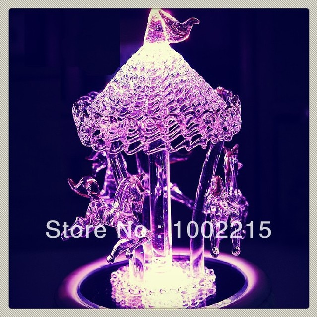Crystal Glass Carousel Music Box Lover Birthday Gift Ideas Male Friend To Send Girls
