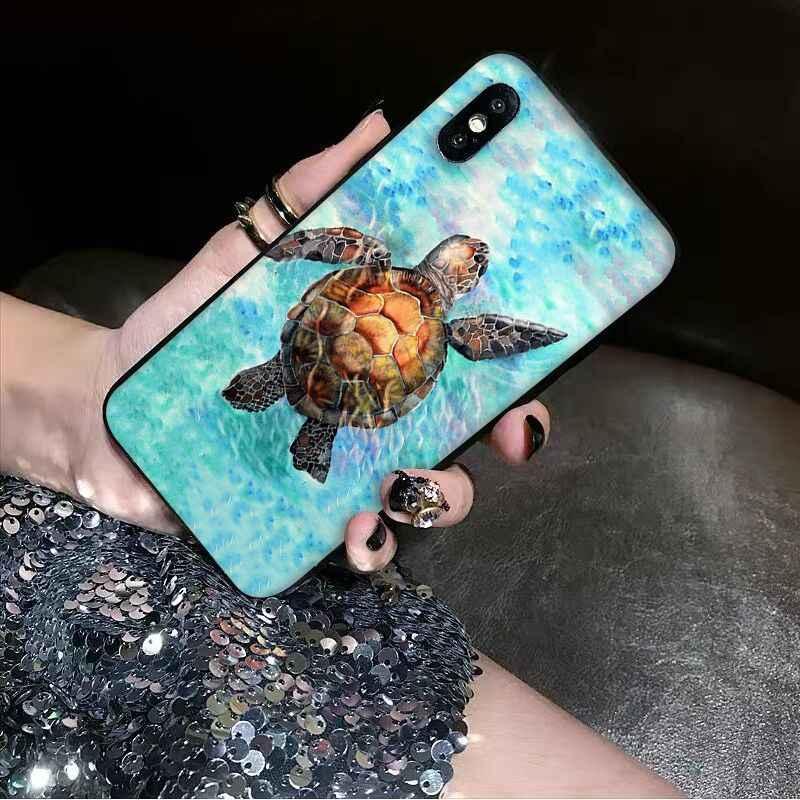 Babaite животное морская черепаха DIY Окрашенные красивые аксессуары для телефонов Чехол для iPhone X XS MAX 6 6s 7 7 plus 8 8 Plus 5 5S SE XR