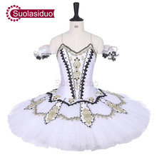 Adult White Classical Ballet Tutu Swan Lake Stage Performance Costumes Children Professional Ballet Skirt Competition Apperal adult dark green ballet tutu stage wear children professional ballet dresses costumes women ballet skirt appreal