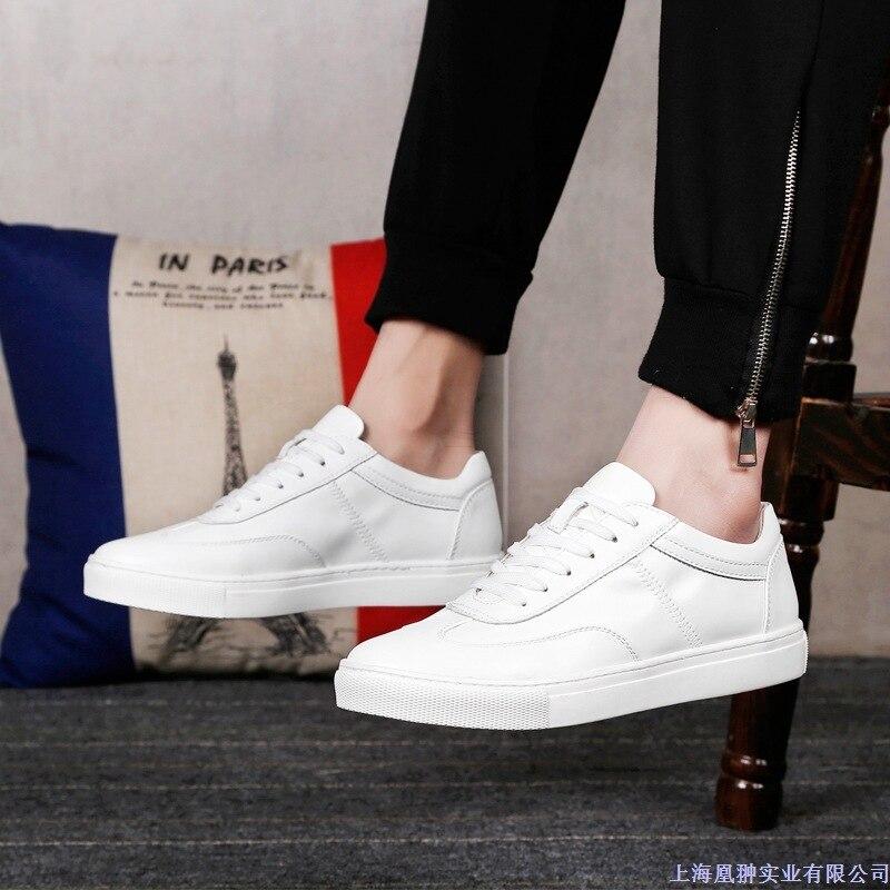 Ressort Noir Mode En Male Casual Véritable blanc Hommes Respirant Chaussures Qualité De Peau Vache Sport Cuir Microfibre Haute Mycolen wqgT8x0E1