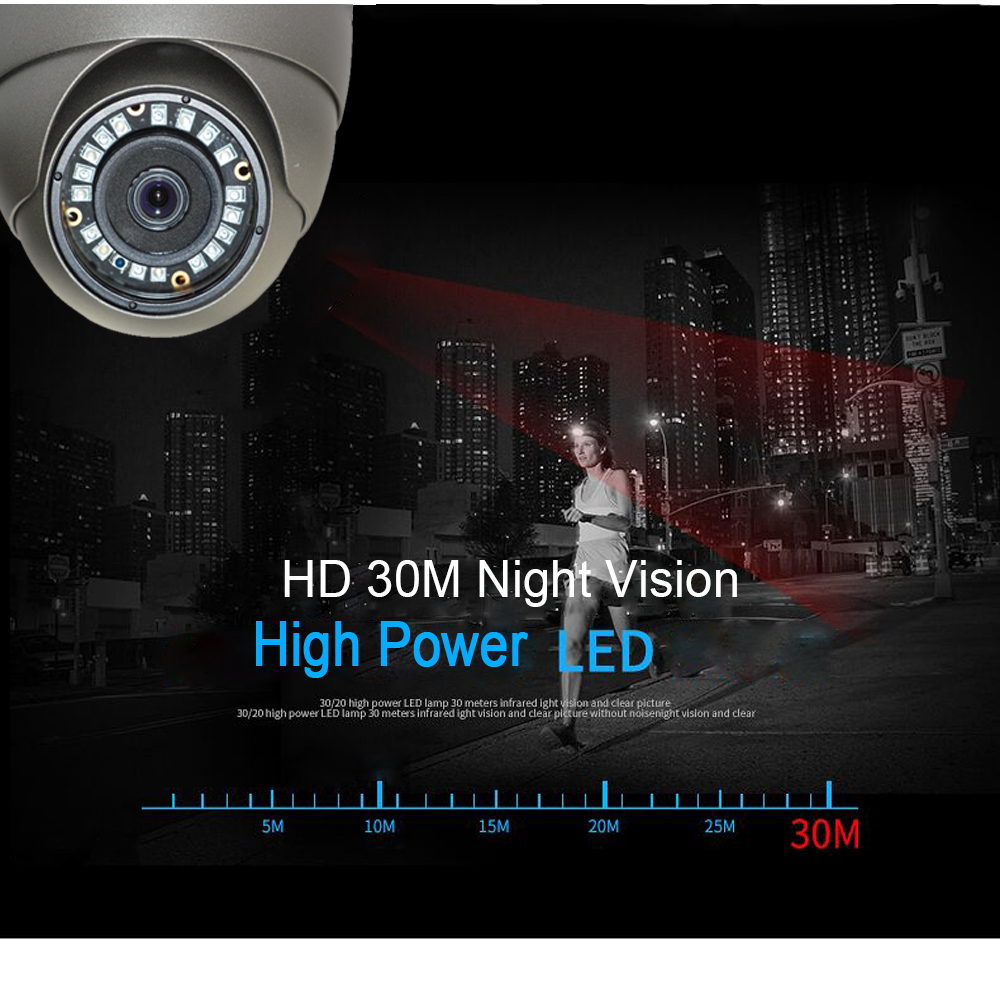 Image 4 - Kingkonghome Metal POE IP Camera 1080P Night Vision Outdoor Motion Detection Surveillance camera ONVIF CCTV Security Dome Camera-in Surveillance Cameras from Security & Protection