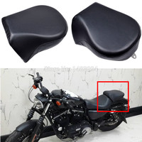 Motorcycle Rear Bench Rear Pillion Passenger Seat Fits For Harley Sportster XL883L 883C 883N 2007 2013