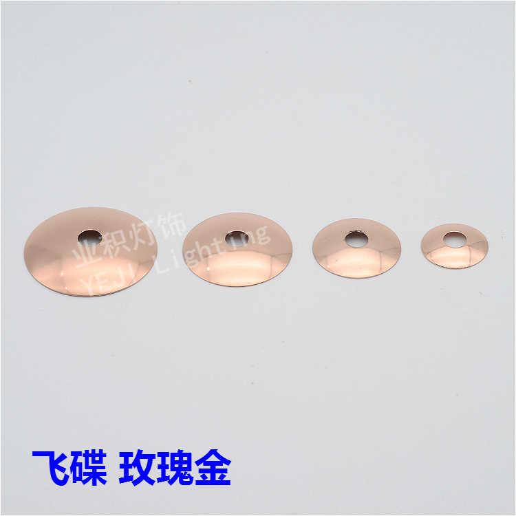 """30 מ""""מ-60 מ""""מ מתכת עגול מעוקל מכסה כיסוי מתאים מנורות שולחן מגש בסיס נברשת תאורת מנורת קיר אביזרי DIY"""