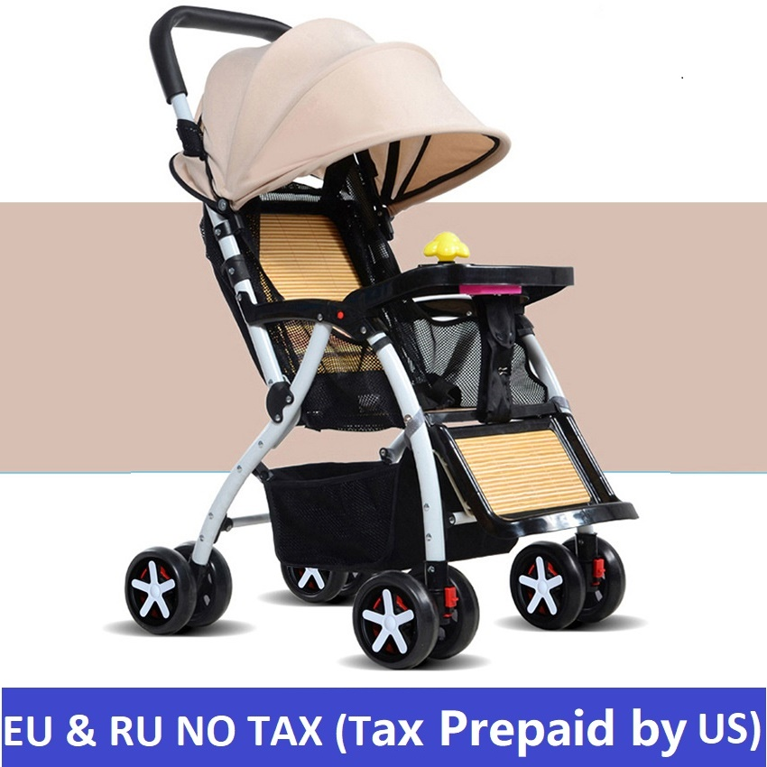 Europe and RU NO TAX Baby stroller ultra-light can sit can lie portable umbrella stroller folding summer strollers baby newborn baby stroller 3 in 1 portable folding strollers sit and lie four wheels 2017 convience prams umbrella stroller 0 3years