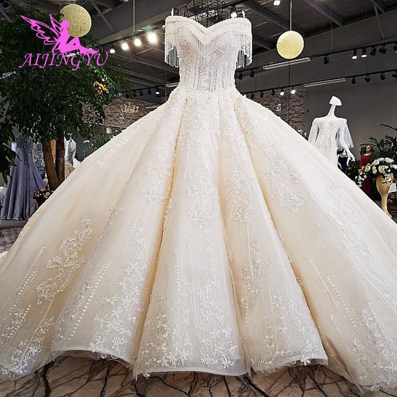 AIJINGYU Wedding Dresses Sri Lanka Gowns Muslim Gothic 2 In 1 Shenzhen Clearance Gown Plain Wedding Dress Boho Long Sleeve