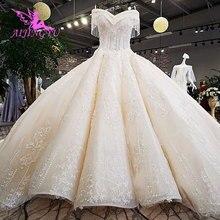 Aijingyu 웨딩 드레스 스리랑카 가운 이슬람 고딕 2 1 심천 정리 가운 일반 웨딩 드레스 boho 긴 소매