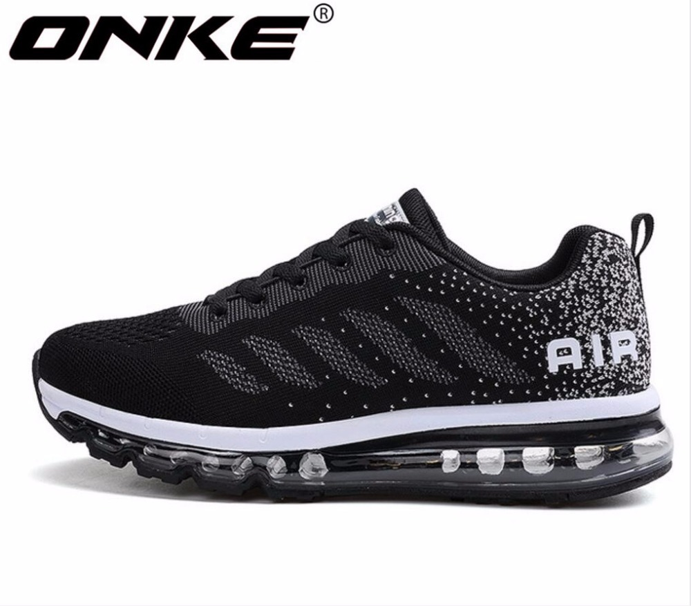 ONKE  New Listing Hot Sales Spring And Autumn Fly Line Breathable Men Running Shoes Full Air Cushion Sneakers 833-A33