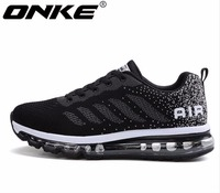 ONKE New listing hot sales Spring and Autumn Fly line Breathable Men running shoes Full air cushion sneakers 833 A33