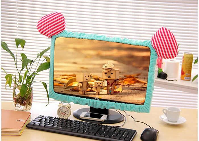 Милый котенок кошка мультфильм эластичный ноутбук экран пылезащитный чехол светодио дный компьютер крышка набор Анти-пыль защитный чехол. украшение дома