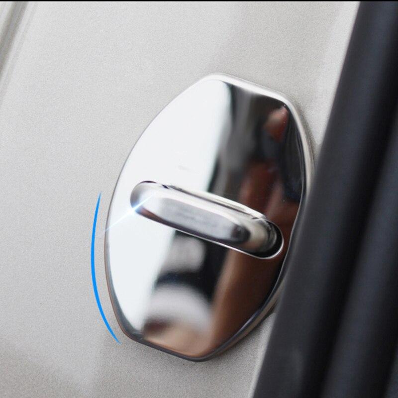Stainless Steel Car Door lock cover protecting Cap Fit for GOLF 6 7 MK6 MK7 Passat B6 B7 Polo Jetta CC Lavida Fabia Superb