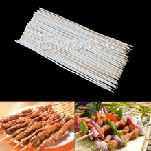 90X 20cm Kabob Skewers Stick Bamboo Grill BBQ Fruit Chocolate Shish Cook Fondue touch in sol rouge fondue lipstick 07 цвет 07 fondue nude beige variant hex name fea587