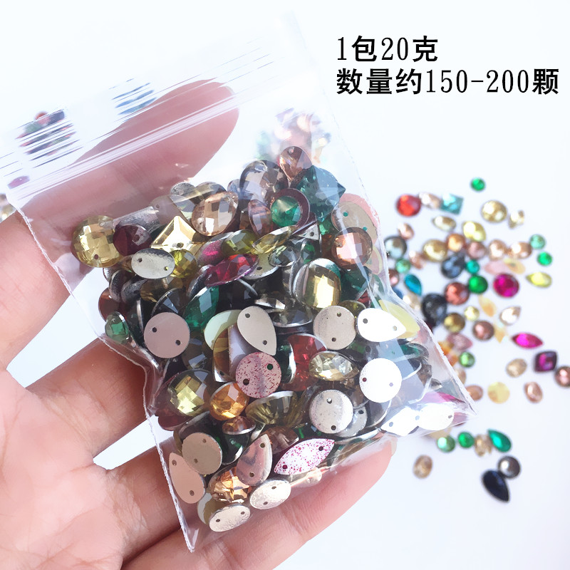 Colored hand stitching drill drill collar dressing hand sewing drills DIY accessories in Garment Beads from Home Garden