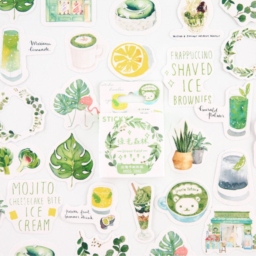 Green Forest Bullet Journal Stickers Set Decorative Stationery Stickers Scrapbooking DIY Diary Album Stick Lable