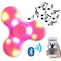 Decompression Finger Toy Fidget Spinner Bluetooth Speaker LED Toy Tri Fidget EDC Hand Spinner Anti Stress