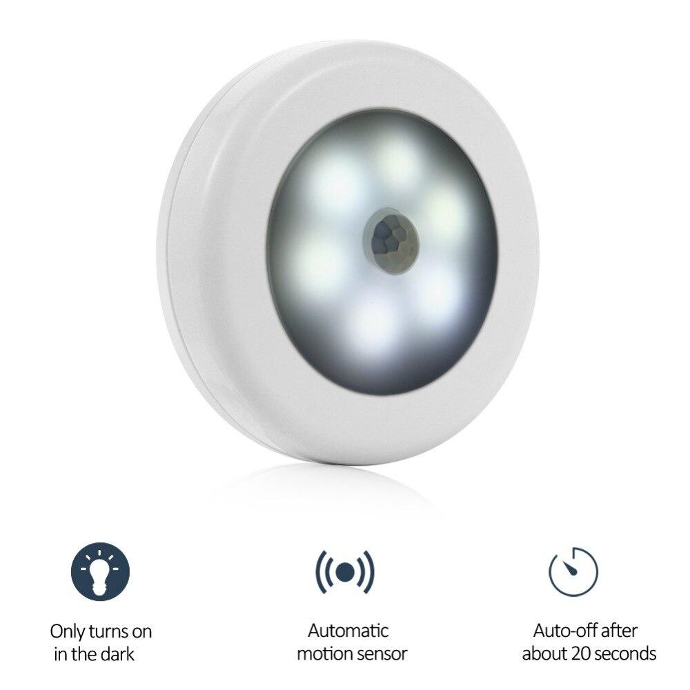 Светодиодный ночник магнитный беспроводной детектор настенный светильник инфракрасный PIR датчик движения свет авто вкл/выкл шкаф лестницы...