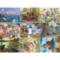 300/550/1000 Pieces Puzzle Kids Jigsaw Puzzles Noctilucent Educational Toys For Children Adult Puzzles
