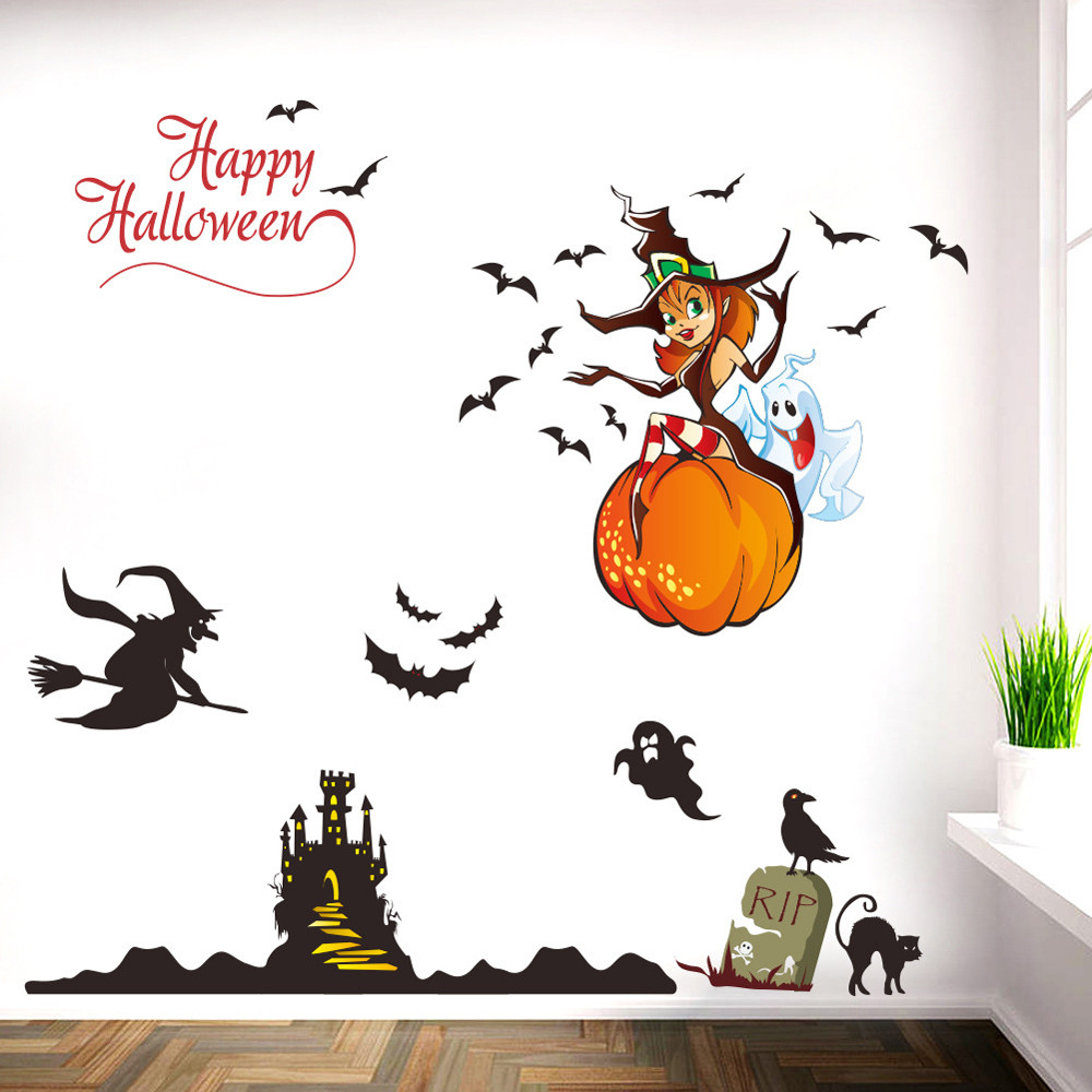 halloween background wall decoration removable wall stickerschina - Halloween Wall Decoration