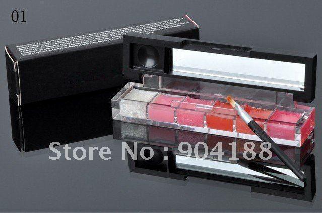 free shipping Hot 2011 new cosmetics Women's sexy 6 color lipglass lip gloss 25pcs/lot