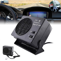 Mini Air Conditioner For Car 12V Portable 2 in 1 Electric Fan Heater 300W Defroster Demister Heating Car Fan Air Conditioner