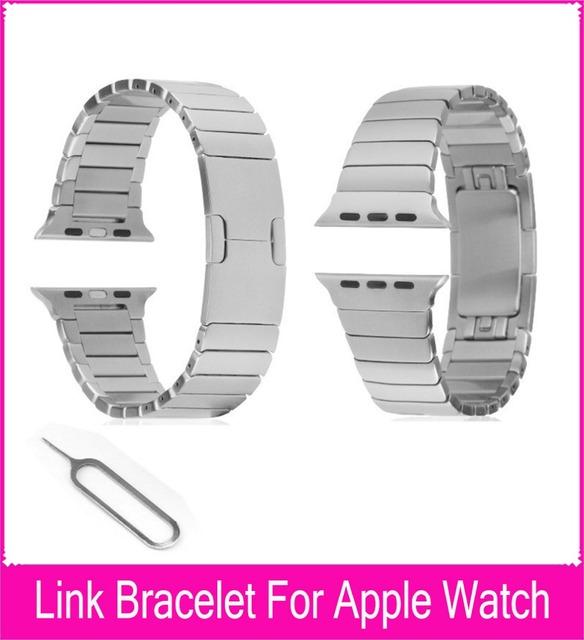 Preta pulseira Link Band para a Apple assista 42 mm feito por liga de aço inoxidável 316L com 1:1 original fechamento borboleta pulseiras de relógio