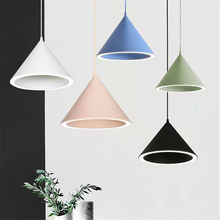 Nordic LED Pendant Lamp Personality Lights Cone Creative Bar Cafe Restaurant Macarons Hanging Lamps