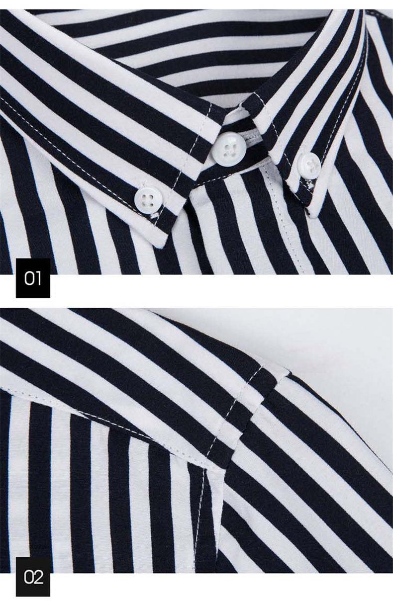 5XL Plus Large Size Striped Shirts Men Long Sleeve Casual Autumn Spring Classic Male Shirts Non-Iron Dress Shirts Man Muls Brand 0