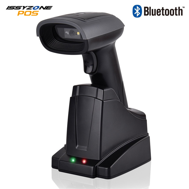 ISSYZONEPOS Handheld Wireless 2D QR Bluetooth Barcode Scanner 2 in 1 Automatic Bar Code Scanner Android iPhone iPad Windows PC wireless barcode scanner bar code reader 2 4g 10m laser barcode scanner wireless wired for windows ce blueskysea free shipping