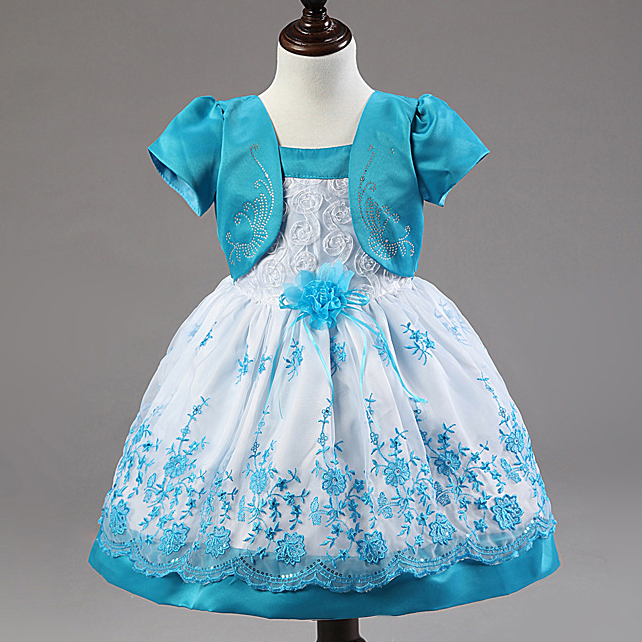 baby girls dress lace princess embroidery birthday wedding