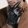 New Arrival Male Sheepskin Gloves Fashion Men's Leather Gloves Winter Bicycle Gloves Keep Warm Driving Gloves Wholesale B-3740