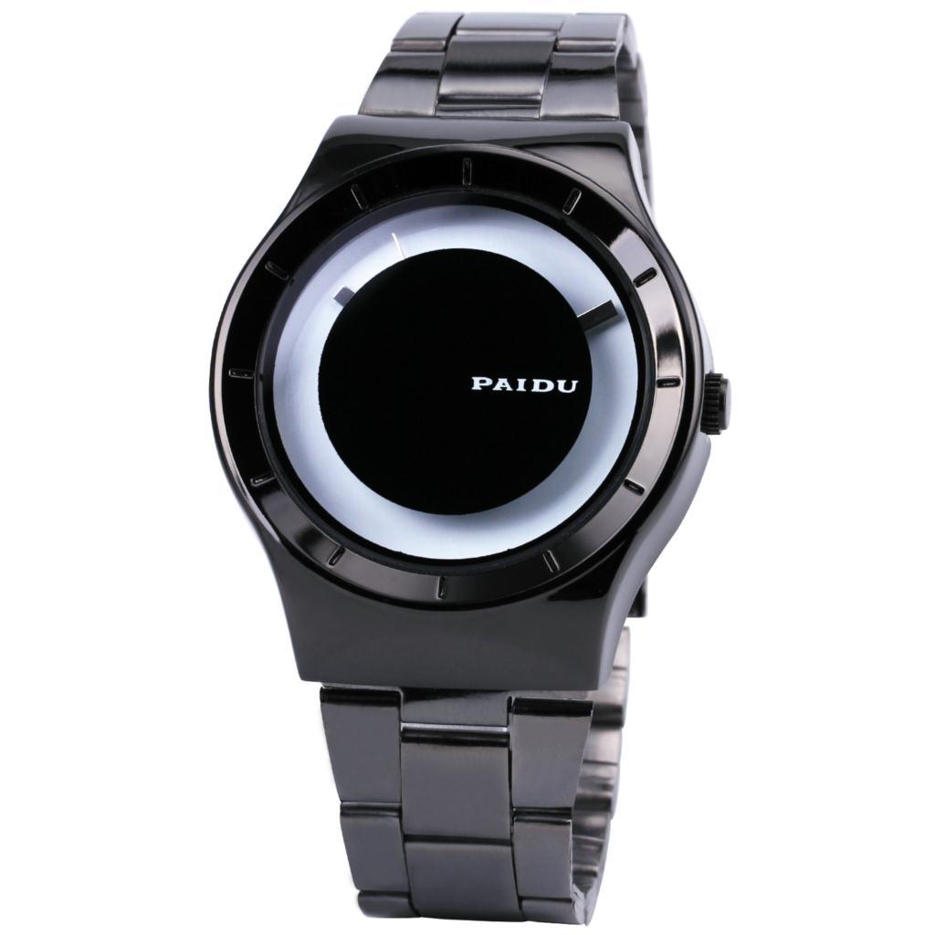 Men original quartz wrist watch aviation aluminum plating for Minimal art wrist watch