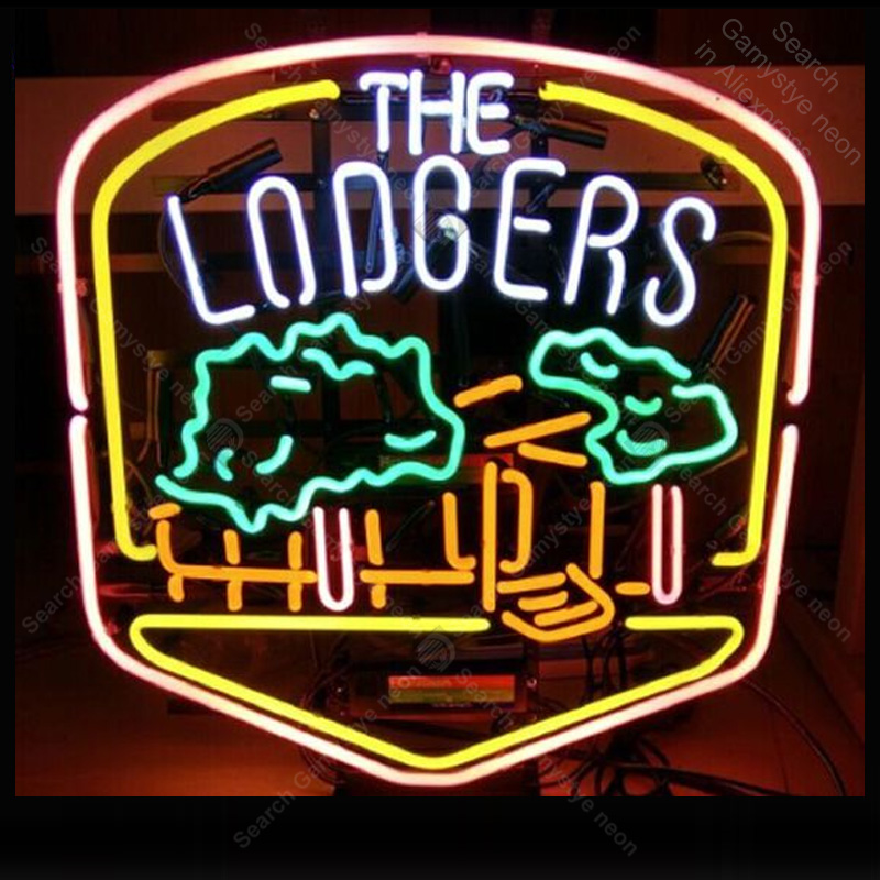 Neon Sign for The Lodgers Neon Bulb sign handcraft Beer bar pub glass neon signboard Decorate Hotel restaurant light lamps image