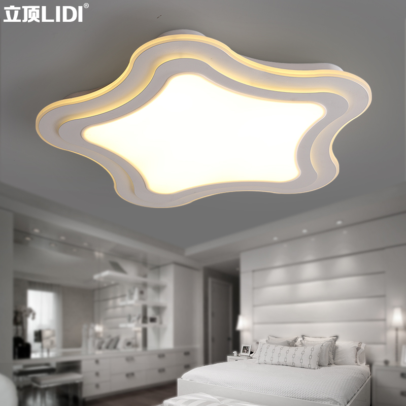 ФОТО The new LED vertical roof ceiling lamps warm children bedroom lamp personality boy girl room lamp star