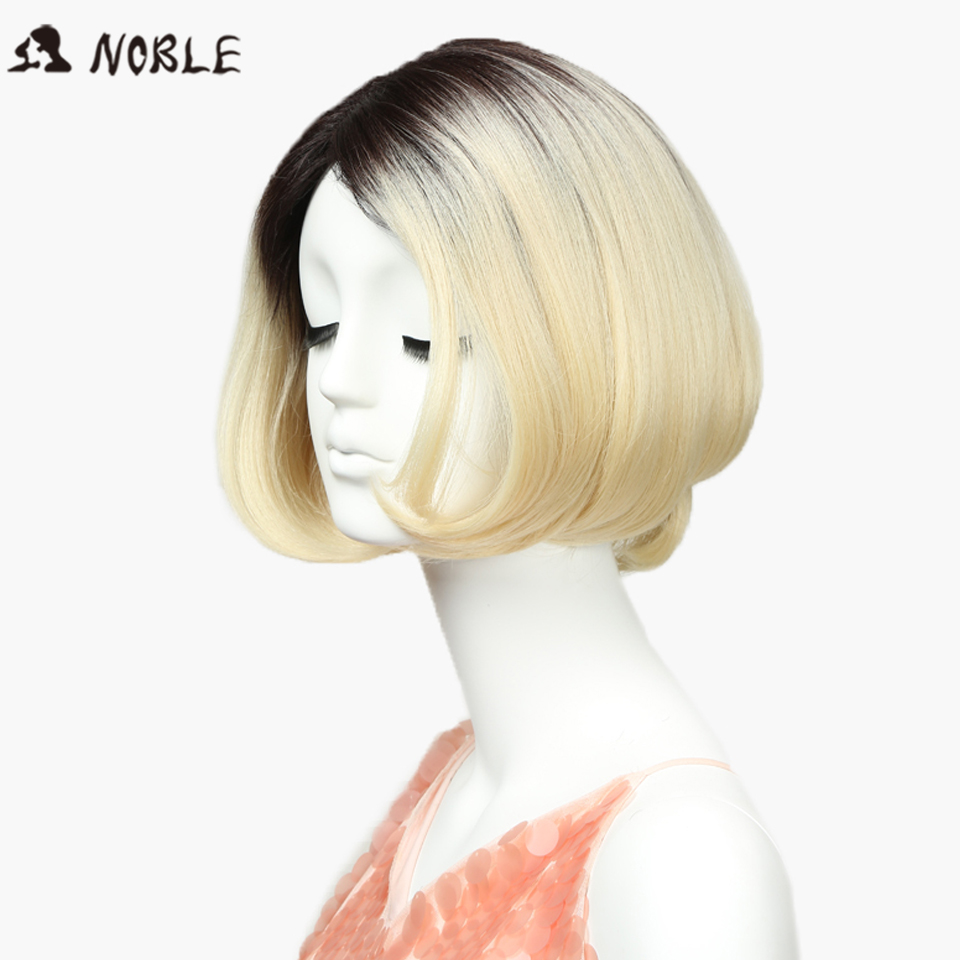 Synthetic Wigs For Black Women 10 Inch Omble Straight Blonde Short Wig African American Hair Wig Heat Resistant Synthetic Hair