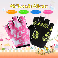 CHEJI Children Bike Gloves Pink Girls Outdoor Sport Gloves Custom Kids Cycling Accessories Full Size Bicycle