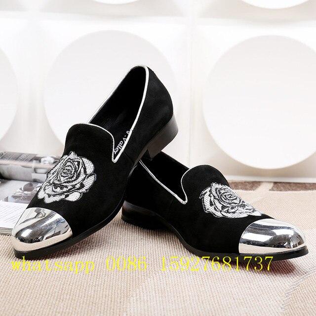 Black dress shoes with rhinestones