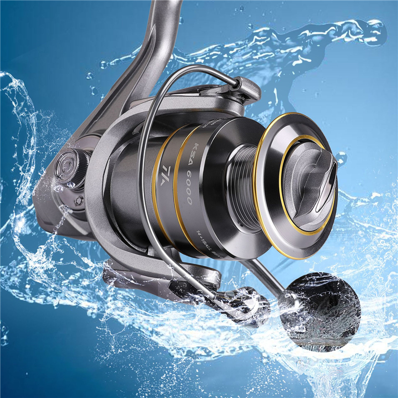 High-Quality Fishing Reel With Non-Slip Bottom And Metal Spool For Saltwater 3