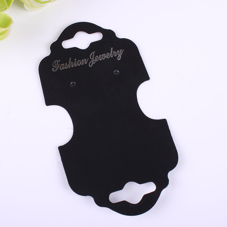 100pcs lot Kraft Handmade Jewelry Necklace Earring Cards 10 5x5 3cm Black Plastic Card Hang Tag Jewelry Displays in Jewelry Packaging Display from Jewelry Accessories