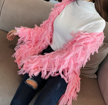Spring and Autumn New Womens Fringe Sweater Jacket Loose Cute Sweet Cardigan