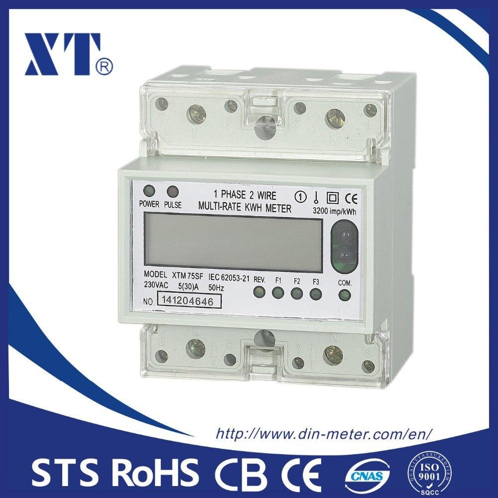 5 (100) un 220 v 50 hz monophasé rail Din KWH Watt heure rail din compteur d'énergie LCD